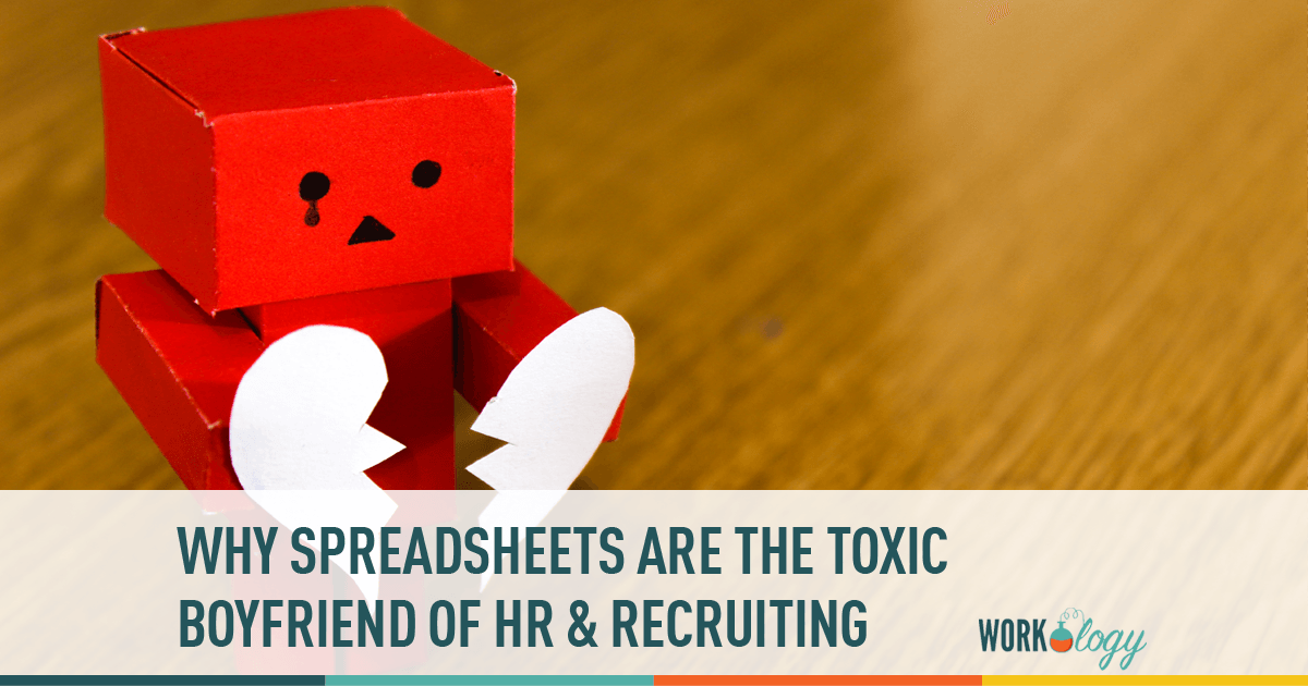 HR Recruiting, Spreadsheets, toxic, sourcing
