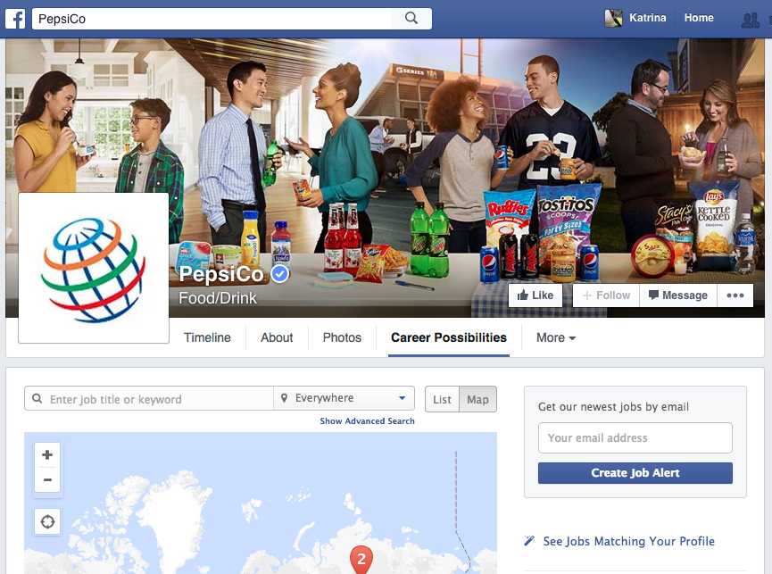 recruiting on Facebook Pepsico