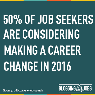 50% of Job Seekers are Considering Making a Career Change in 2016