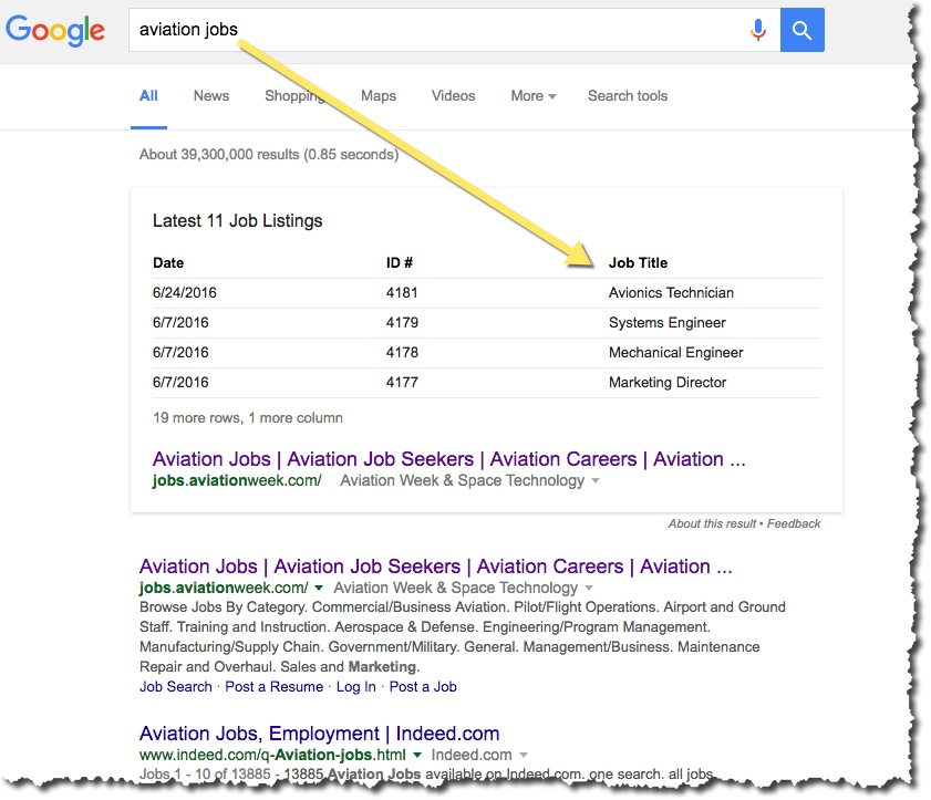 google-snippet-jobs