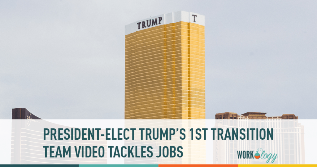 president-elect trump's first video tackles jobs