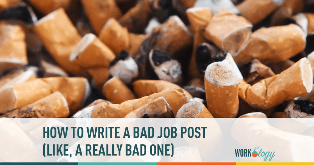 bad jobs, posting. job post