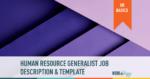 hr human resource generalist job description template