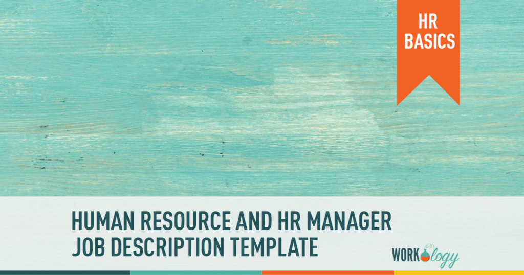 human resource manager job description template HR human resources