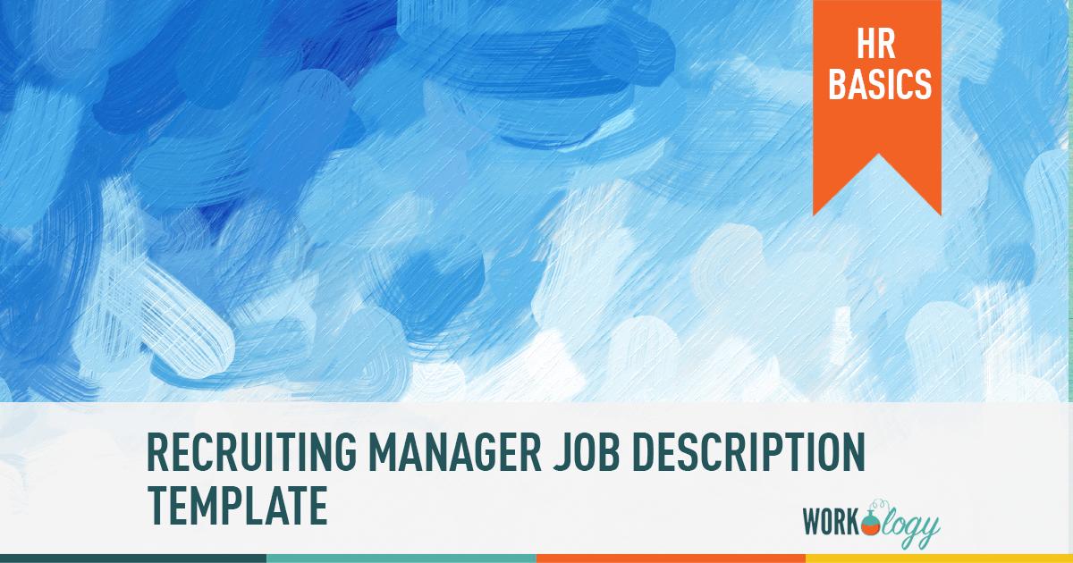 recruiting manager recruiter job description template
