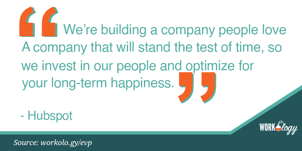 Employee value proposition EVP Hubspot