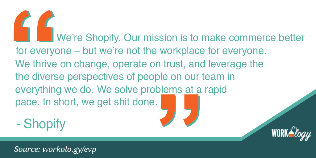 Employee value proposition EVP Shopify