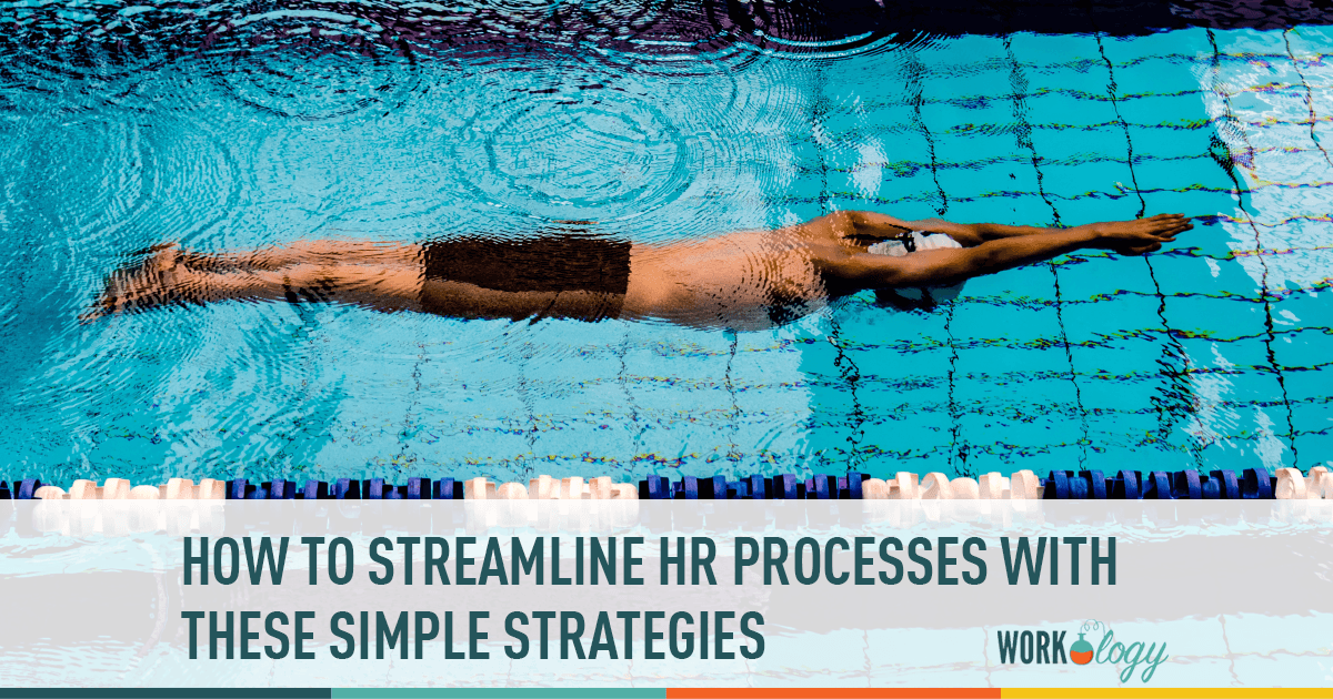 streamlining HR processes, photo of person swimming