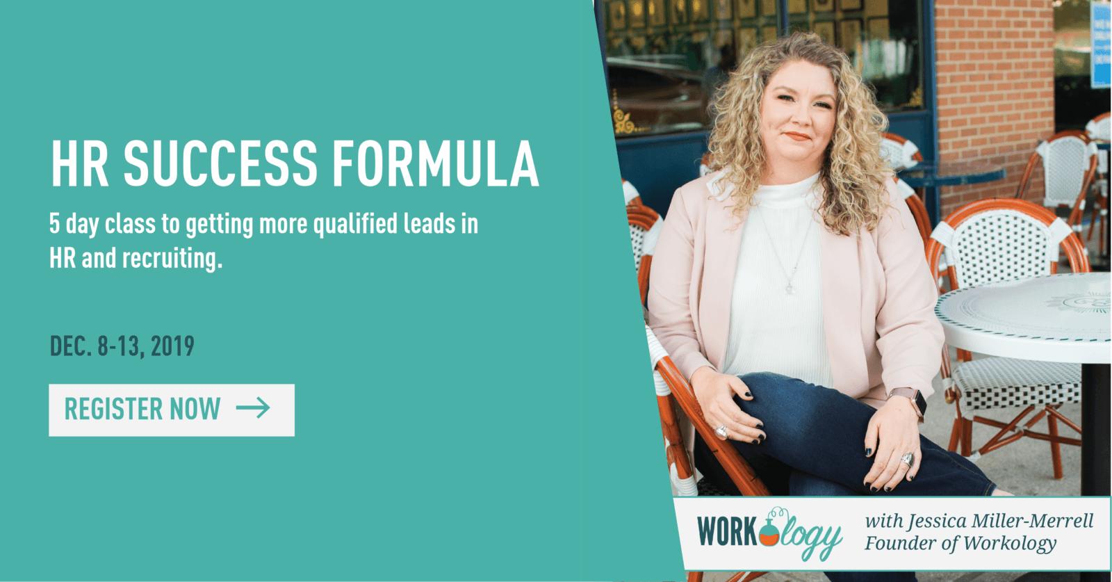 HR success formula landing december
