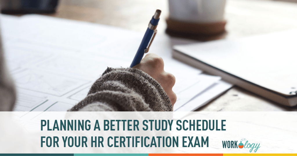 HR certification study schedule