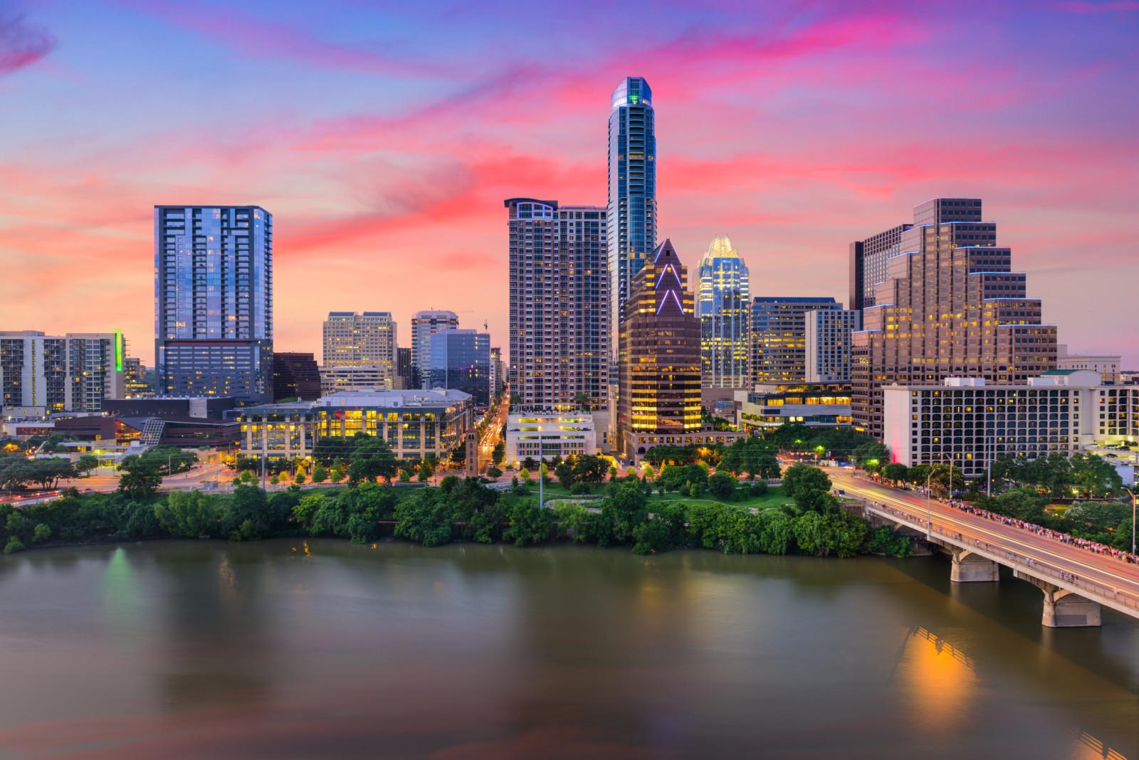 Austin, Texas, USA downtown skyline.