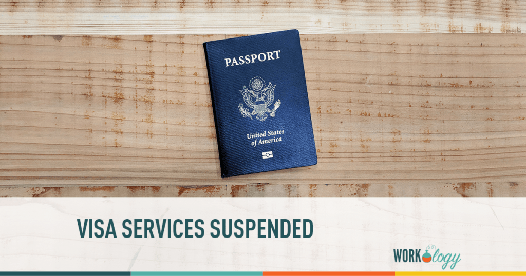 VISA services suspended