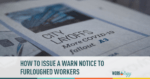 How to Issue WARN Notices to Furloughed Workers
